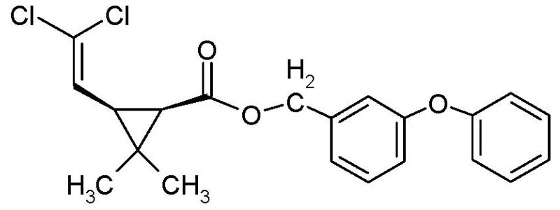 chemical structure permethrin