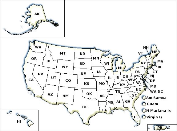 Small Map Of Us States